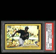 2014 Topps Chrome Update Gold Refractor Gregory Polanco RC /250 PSA 10 POP 1/1