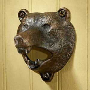 Design Toscano Grizzly Bear of the Woods Cast Iron Bottle Opener