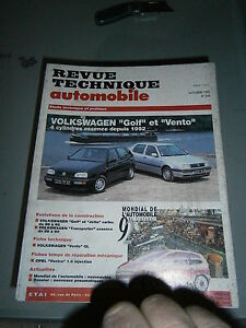 RTA  revue technique auto Volkwagen golf et vento 4 cyl essence depuis 1992