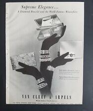 1952 Van Cleef & Arpels diamond bracelet minaudiere vintage gloves jewelry ad
