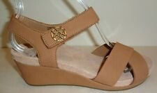UGG Australia Size 9.5 VEVA Chestnut Leather Wedge Heel Sandals New Womens Shoes