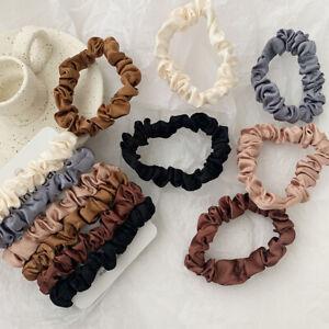 6Pcs/Set Elastic Women Hair Bands Satin Scrunchie Ties Cute Ponytail Holder Rope