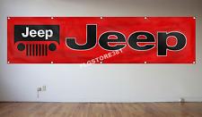 Jeep Banner Flag 2x8Ft Grand Cherokee Renegade Compass Wrangler Rubicon New