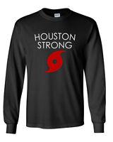Long Sleeve Men's Houston Strong T Shirt Hurricane Harvey Tee Support