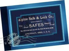 Alpine Safe + Lock Co 1890 Samples CATALOGUE Fire Burglar Proof Safes