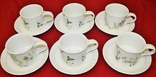Portmeirion Queens Hidden Garden Drum-Shaped Breakfast Cup and Saucer, Set of 6