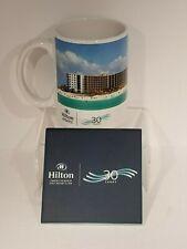 Hilton Hotel Sandestin Beach Anniversary Collectible Mug 30 year Tile Coaster