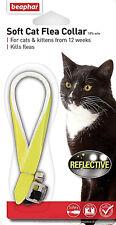 Beaphar Reflective Collar Cat Flea Kills Fleas 4 Months Glow In Dark Collar