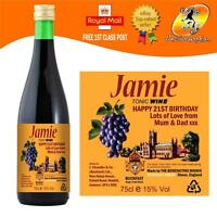PERSONALISED TONIC WINE BOTTLE LABEL BIRTHDAY CHRISTMAS ANY OCCASION GIFT