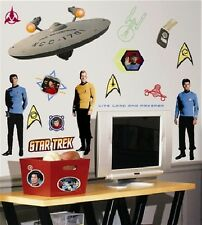 Star Trek Classic Trio Peel and Stick Wall Stickers Appliques Decals MINT SEALED