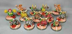 Equipe BloodBowl Nains 3rd Edition Pro Painted