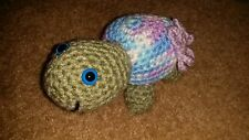 Handmade Crochet Turtles with safety eyes