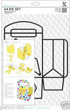 Xcut 3 piece A4 die Make a 14cm tall Bag + tag + bow Use Xpress Sizzix eBosser