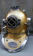 Antique Divers Diving Helmet Vintage Us Navy Mark V Boston Brass Morse Helmet