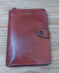 Vintage Brown Oak Calf Leather Purse/Wallet/Rectangular/Retro/1950's/60's/Small