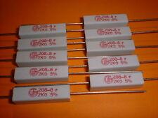 10x 2 kOhm / 5 Watt / 5% Wirewound-Power-Widerstand 2K