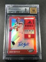 BAKER MAYFIELD 2019 CONTENDERS OPTIC #101 RED AUTO ROOKIE RC /99 BGS 9 10 BROWNS