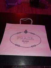 "Authentic Prada Embossed White Shopping Gift Bag rope handle 13.75"" x 10"" x 5.5"""