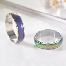 1PC Amazing Change Color Temperature Mood Rings Emotional Band Size5