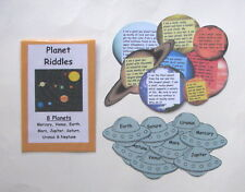 Teacher Made Science Center Learning Resource Game Planet Riddles