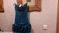 New Goddess Teal Blue Evening Party Dress Size S