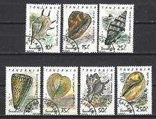 Tanzanie 1992 coquillages (132) Yvert n° 1056 à 1062 oblitéré used