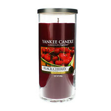 Yankee Candle Black Cherry Large Pillar Candle, Red