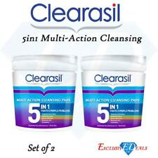 Clearasil Ultra 5in1 Cleansing Pads Removes Dirt Unblocks Pores Exfoliates x 2