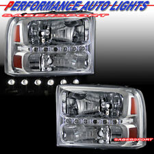 Pair of 1 Piece Style Headlights for 99-04 Ford SuperDuty Truck and Excursion