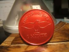 KEEP COMING BACK  - ONE MONTH AA Medal  SERINITY PRAYER DOVE OF PEACE RED