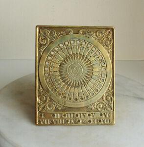 Vintage Indoor Decorative  Brass Sundial