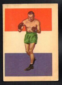 JACK SHARKEY 1956 ADVENTURE GUM BOXING #87 VERY GOOD
