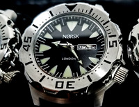 Sea Monster Watch- Norsk - (Norway medal winners) - Diver - Citizen Movmt- Black