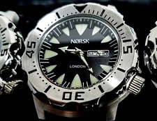Sea Monster Watch; Norsk - (Norway medalists) - Diver, Citizen Movmt Black