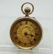 C1900 antique solid gold 9k ladies pocket watch working