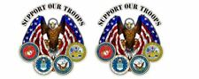 2x U.S. Army Support our Troops Sticker Decal Car Truck USA America Navy Marine