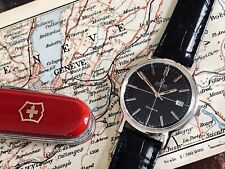 Omega Geneve Automatic Serviced June black dial face vintage mens service watch