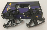 GT Wings MTB / BMX Bicycle Bike Alloy Pedals 9/16 Flat-Platform Old School Black