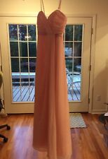 Jordan Pink Chiffon Long Formal Dress Strapless or with Adjustable Straps SIZE 2
