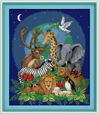 Joy Sunday Counted Cross Stitch Kit 14CT Animal World 14in x 16in Embroidery Kit