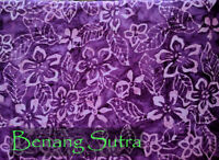 Batik Cotton Quilting Craft Fabric Sewing Purple Floral