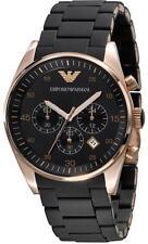 Emporio Armani Sportivo Watch Rose Gold/Black Mens AR5905 or Womens AR5906- NEW