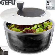 GEFU Rotare Salatschleuder mit Kurbel Salattrockner Salat Sieb Schüssel Seiher