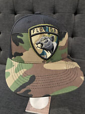 Authentic Pro NHL FLORIDA PANTHERS Camo Military Flat Bill Hockey Adjustable Hat