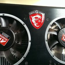 MSI Gaming G Series Dragon Shield  3D domed sticker badge 30x25mm [H186]