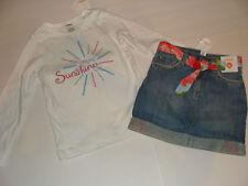 Gymboree Burst of Spring Girls Size 6 Top Sunshine Denim Adjustable Skirt  NEW