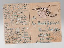 1940 Shanghai Ghetto China Postcard Censored Cover Judaica  to Palestine