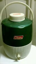 Vintage Coleman Metal/Plastic Green Water Cooler/Jug with Cup