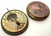 Brass Ship Pocket Sundial & Compass-Lord kelvin 1824-1907