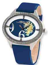 "Ed Hardy Ladies ""Showgirl"" Koi Blue Band 45x35mm Watch-NIB! Very LIMITED"